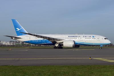 Xiamen Air Boeing 787-8 Dreamliner B-2760 (msn 41540) AMS (Ton Jochems). Image: 930843.