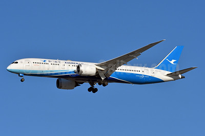 Xiamen Air Boeing 787-9 Dreamliner B-1567 (msn 63041) JFK (Fred Freketic). Image: 940567.