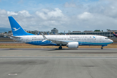 Xiamen Air's MAX 8, delivered on May 23, 2018