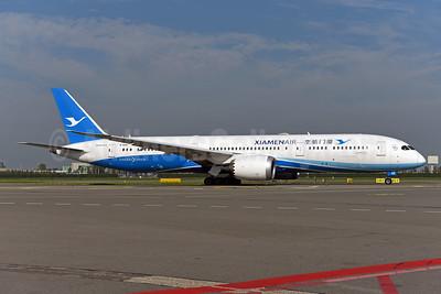Xiamen Air Boeing 787-9 Dreamliner B-1566 (msn 63040) AMS (Ton Jochems). Image: 943832.