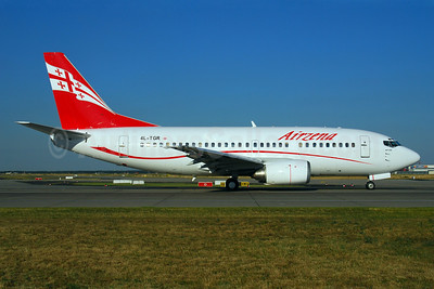 Airzena Georgian Airways Boeing 737-59D 4L-TGR (msn 24694) FRA (Bernhard Ross). Image: 900341.