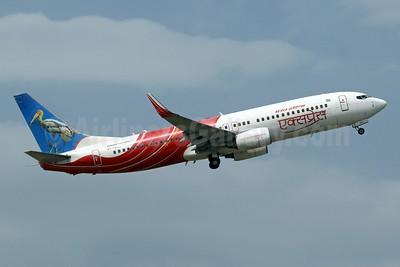 Air India Express Boeing 737-8HG WL VT-AXT (msn 36331) (Painted Stork) SIN (Pascal Simon). Image: 942692.