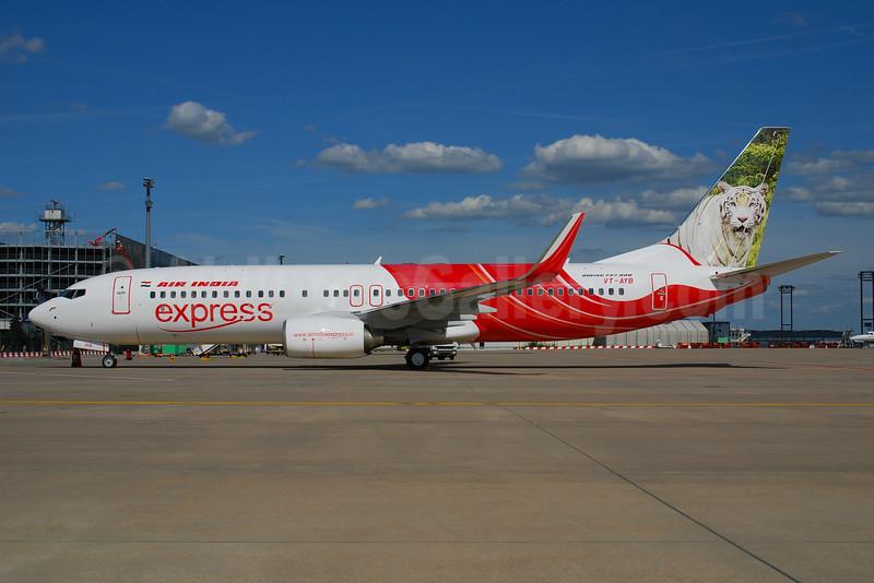 Air India Express Boeing 737-8HG WL VT-AYB (msn 36338) (White Tiger) FRA (Bernhard Ross). Image: 903330.