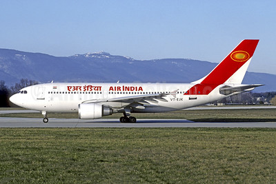 Air India Airbus A310-304 VT-EJK (msn 429) GVA (Christian Volpati Collection). Image: 951717.