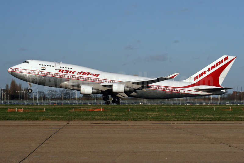 Air India Boeing 747-437 VT-EVB (msn 28095) LHR (SPA). Image: 924534.