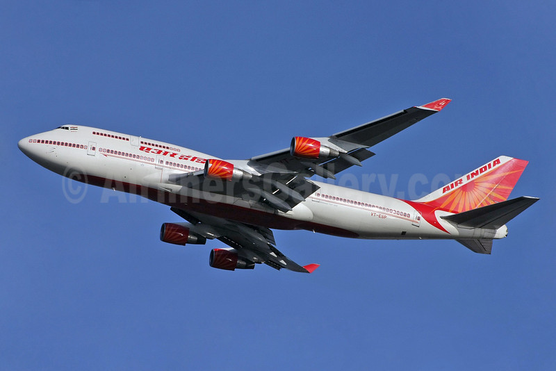 Air India Boeing 747-437 VT-ESP (msn 27214) LHR (David Apps). Image: 901291.