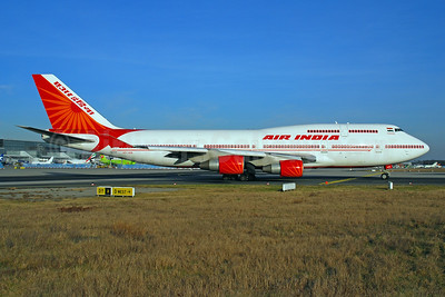 Air India Boeing 747-4H6 VT-AIS (msn 25703) FRA (Bernhard Ross). Image: 900249.