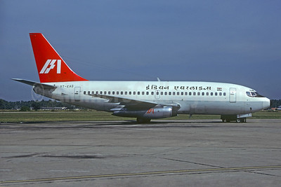 Indian Airlines Boeing 737-2A8 VT-EAG (msn 20480) (Martin Hornlimann - Christian Volpati Collection). Image: 933644.
