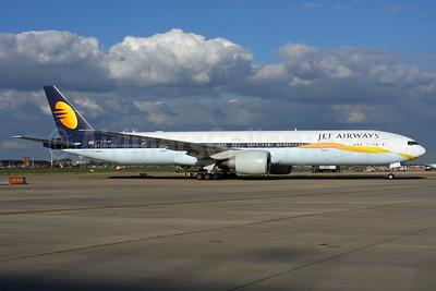 Jet Airways Boeing 777-35R ER VT-JEX (msn 35163) LHR. Image: 937430.