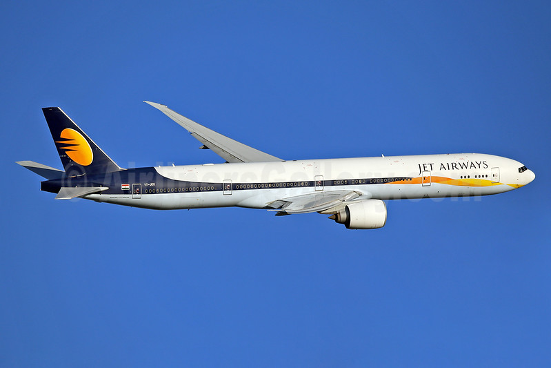 Jet Airways Boeing 777-35R ER VT-JEW (msn 35164) LHR (Keith Burton). Image: 936662.