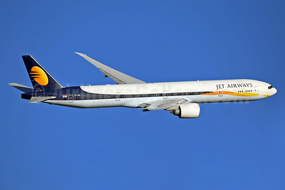 Jet Airways Boeing 777-35R ER VT-JEW (msn 35164) LHR (Keith Burton). Image: 936662.