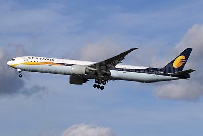 Jet Airways Boeing 777-35R ER VT-JEQ (msn 35161) LHR (SPA). Image: 940932.