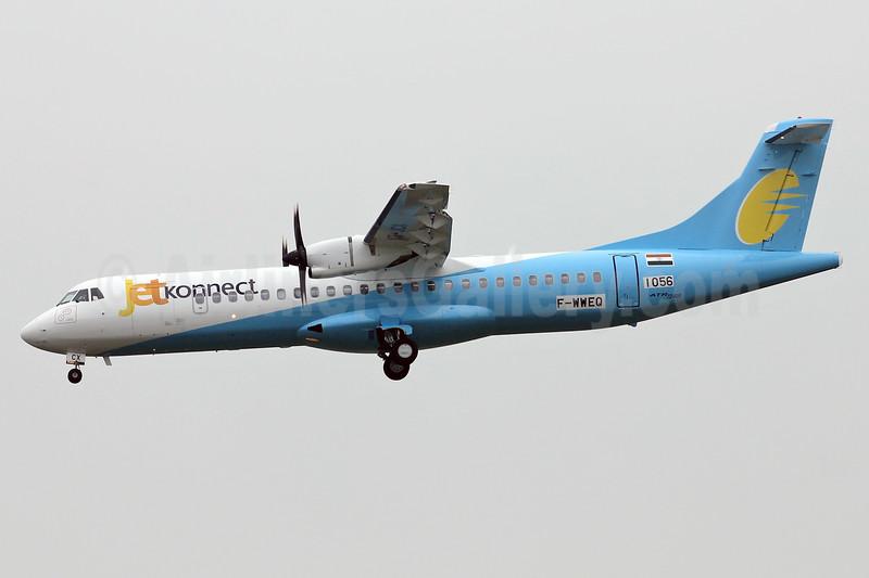 JetKonnect ATR 72-212A (ATR 72-600) F-WWEQ (VT-JCX) (msn 1056) TLS (Eurospot). Image: 925117.