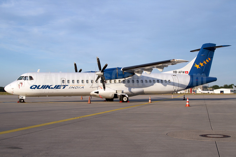 QuikJet Cargo Airlines (Farnair Europe) ATR 72-202 (F) HB-AFW (msn 419) (Farnair colors) CGN (Rainer Bexten). Image: 906539.