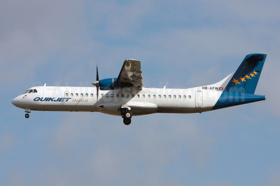 QuikJet Cargo Airlines (Farnair Europe) ATR 72-202 (F) HB-AFW (msn 419) (Farnair colors) TLS (Olivier Gregoire). Image: 908359.