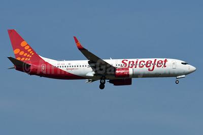 SpiceJet Boeing 737-85R WL VT-SYE (msn 35106) BKK (Karl Cornil). Image: 952691.