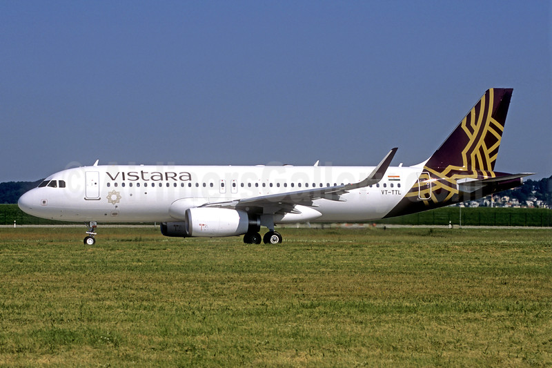 Vistara Airbus A320-232 WL VT-TTL (msn 7163) (Jacques Guillem Collection). Image: 939478.