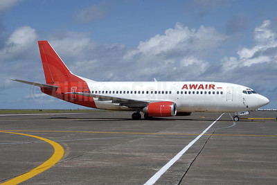 AWAIR (Indonesia AirAsia) Boeing 737-301 PK-AWU (msn 23257) (AirAsia colors) CGK (Roy Lock). Image: 938438.