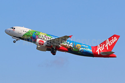 "AirAsia's 2018 ""Colours of Indonesia"" logo jet"