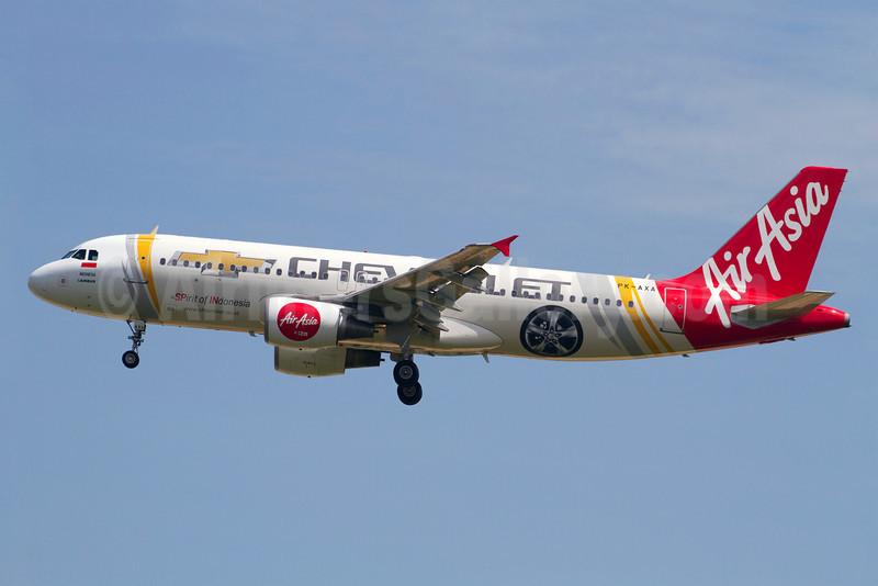 AirAsia (AirAsia.com) (Indonesia AirAsia) Airbus A320-216 PK-AXA (msn 3610) (Chevrolet - Spirit of Indonesia) SIN (Kok Chwee K.C. Sim). Image: 921089.