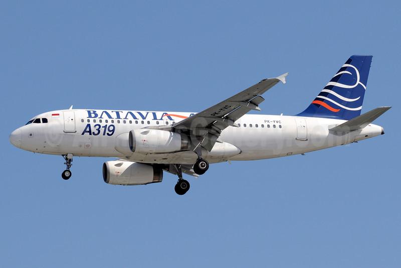 Batavia Air Airbus A319-132 PK-YVC (msn 2660) SIN (Kenneth Wong). Image: 910988.
