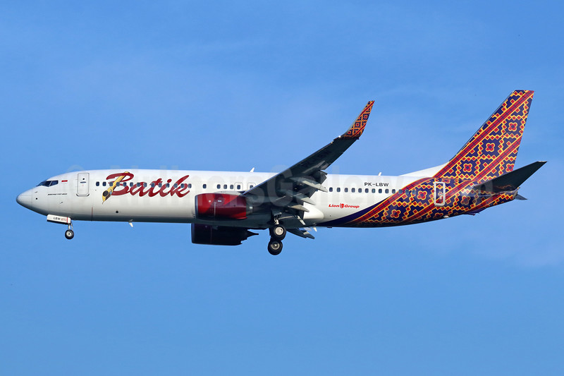 Batik Air-Lion Group Boeing 737-8GP WL PK-LBW (msn 39834) CGK (Michael B. Ing). Image: 938394.