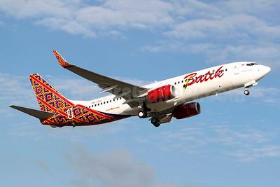 Batik Air-Lion Group Boeing 737-8GP WL PK-LBS (msn 39827) BFI (Joe G. Walker). Image: 925294.