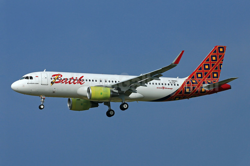 The first Airbus A320 for Batik Air and the Lion Group