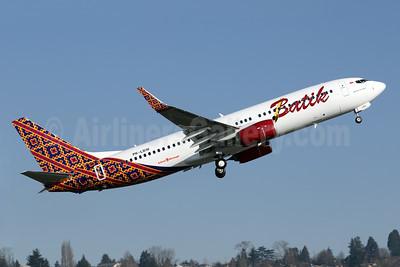 Batik Air-Lion Group Boeing 737-8GP WL PK-LBW (msn 39834) BFI (Brandon Farris). Image: 926135.
