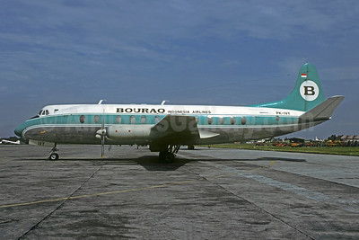 Bouraq Indonesia Airlines Vickers Viscount 843 PK-IVY (msn 455) JKT (Christian Volpati Collection). Image: 945626.
