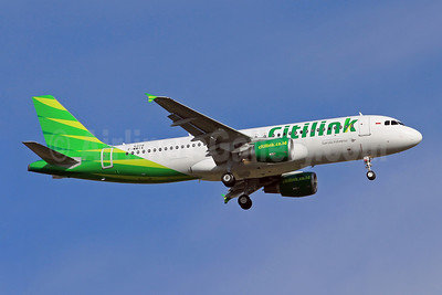 Citilink-Garuda Indonesia Airways Airbus A320-214 F-WWIK (PK-GLL) (msn 5379) TLS (Eurospot). Image: 909781.
