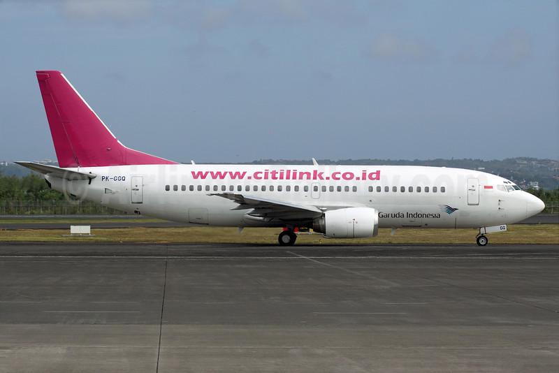 Citilink-Garuda Indonesia Airways Boeing 737-3U3 PK-GGQ (msn 28739) DPS (Michael B. Ing). Image: 924142.