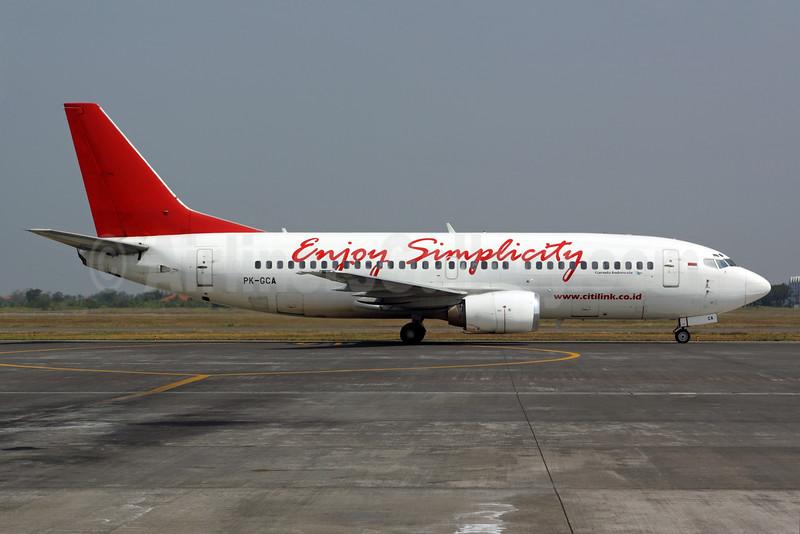 Citilink-Garuda Indonesia Airways Boeing 737-3L9 PK-GCA (msn 24589) (Enjoy Simplicity) SUB (Michael B. Ing). Image: 927792.