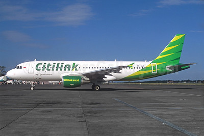Citilink-Garuda Indonesia Airways Airbus A320-214 PK-GLP (msn 5511) DPS (Jacques Guillem Collection). Image: 940115.