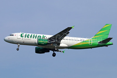 Citilink-Garuda Indonesia Airways Airbus A320-214 PK-GLI (msn 3148) CGK (Michael B. Ing). Image: 934015.