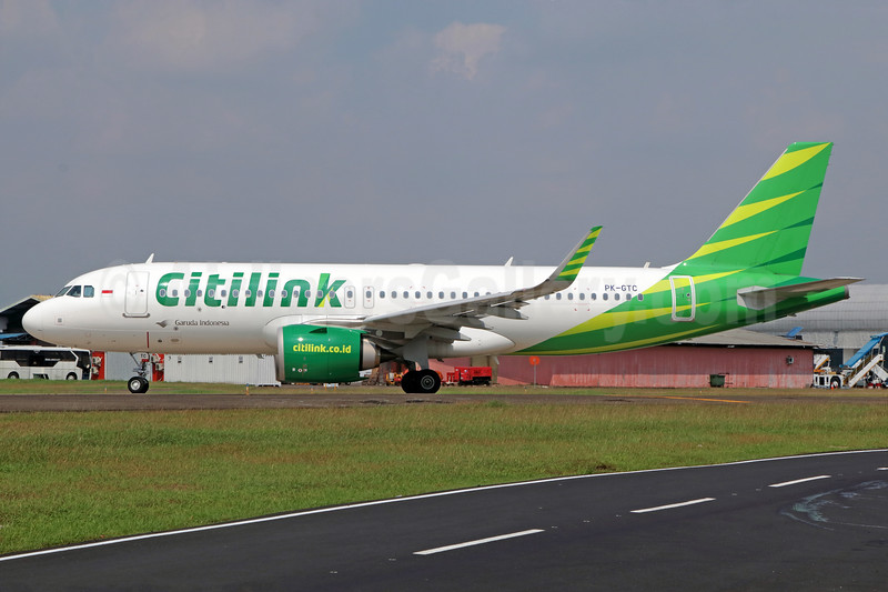 Citilink-Garuda Indonesia Airways Airbus A320-251N WL PK-GTC (msn 7505) CGK (Michael B. Ing). Image: 938392.