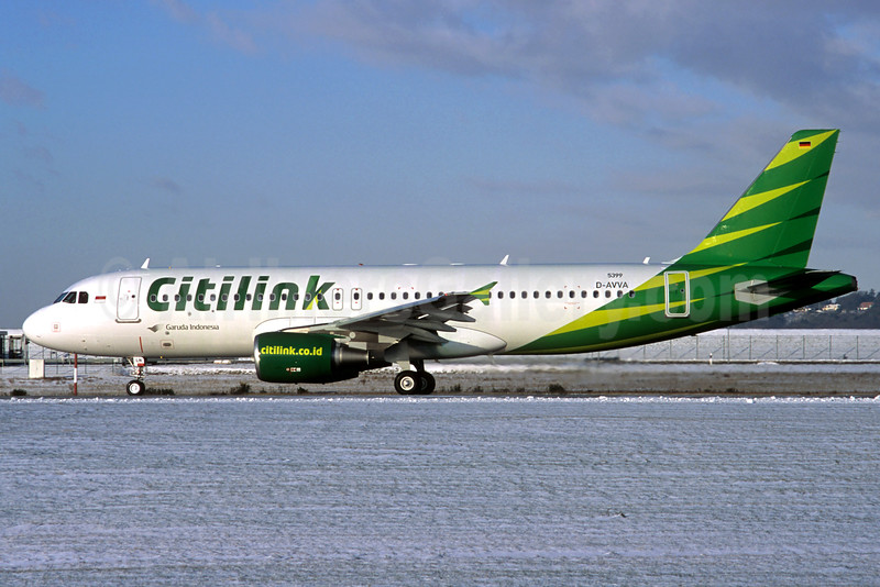 Citilink-Garuda Indonesia Airways Airbus A320-214 D-AVVA (PK-GLN) (msn 5399) XFW (Jacques Guillem Collection). Image: 924135.