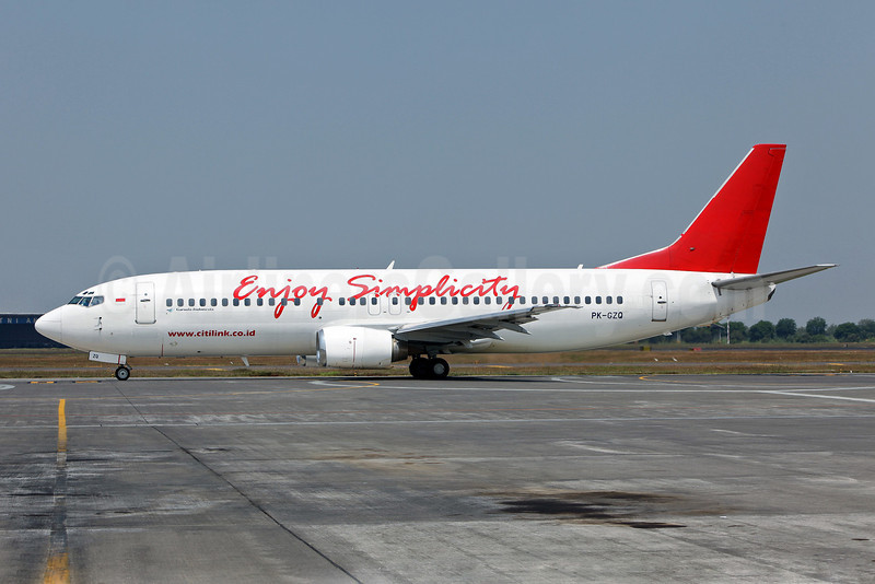 Citilink-Garuda Indonesia Airways Boeing 737-4S3 PK-GZQ (msn 25134) (Enjoy Simplicity) SUB (John Adlard). Image: 903396.
