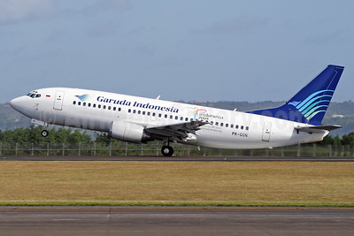 Garuda Indonesia Airways Boeing 737-3U3 PK-GGN (msn 28735) DPS (Michael B. Ing). Image: 937077.