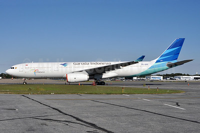 Garuda Indonesia Airways Airbus A330-341 PK-GPE (msn 148) (Visit Indonesia) BWI (Tony Storck). Image: 912834.