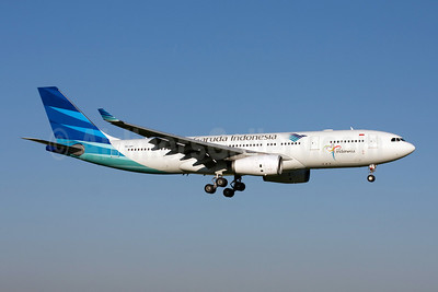 Garuda Indonesia Airways Airbus A330-243 PK-GPI (msn 1052) AMS (Michael Stappen). Image: 907130.