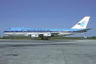 Garuda Indonesia titles and logo, KLM colors