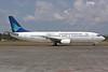 Garuda Indonesia Airways Boeing 737-46Q PK-GZP (msn 28661) (Visit Indonesia 2009) DPS (Michael B. Ing). Image: 937072.