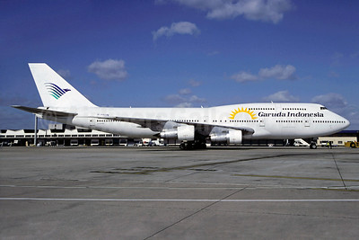 Garuda Indonesia Airways (Corsair) Boeing 747-312 F-GSUN (msn 23030) (Corsair sun logo) ORY (Christian Volpati). Image: 900971.
