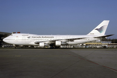 Garuda Indonesia Airways (MEA) Boeing 747-2B4B N203AE (msn 21098) ZRH (Rolf Wallner). Image: 920943.