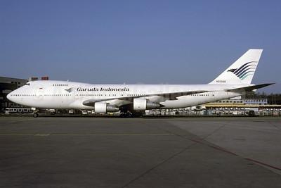 Garuda Indonesia Airways (MEA) Boeing 747-2B4B N203AE (msn 21098) ZRH (Rolf Wallner). Image: 920943.