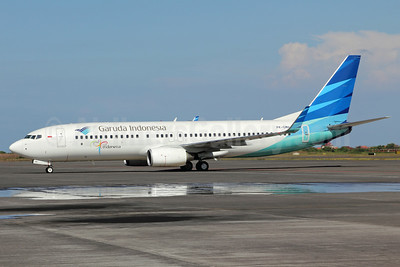 Garuda Indonesia Airways Boeing 737-8U3 WL PK-GMH (msn 30142) (Visit Indonesia) SUB (Michael B. Ing). Image: 924189.