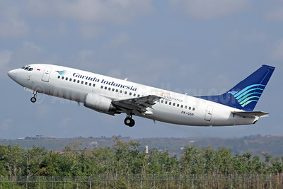 Garuda Indonesia Airways Boeing 737-3U3 PK-GGP (msn 28737) DPS (Michael B. Ing). Image: 937076.