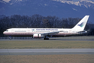 Garuda Indonesia Airways (Britannia Airways) Boeing 767-304 ER G-OBYI (msn 29138) (Britannia colors) GVA (Christian Volpati Collection). Image: 949300.