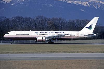 Garuda Indonesia Airways (Britannia Airways) Boeing 767-304 ER G-OBYI (msn 29138) (Britannia colors) GVA (Christian Volpati Collection). Image: 949300.